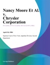 Nancy Moore Et Al V Chrysler Corporation