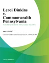 Leroi Dinkins V Commonwealth Pennsylvania