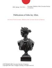 Publications Of John Jay Allen.