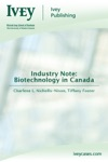 Industry Note Biotechnology In Canada