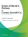 Estate Of David L Portnoy V Cessna Aircraft Co