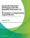 Goodwill Industries Pittsburgh And Old Republic Insurance Co V Workmens Compensation Appeal Board Friend