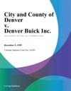 City And County Of Denver V Denver Buick Inc