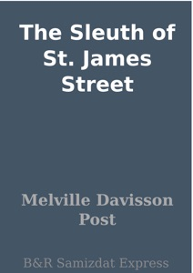 The Sleuth of St. James Street
