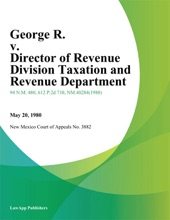 George R. v. Director of Revenue Division Taxation and Revenue Department