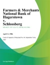 Farmers  Merchants National Bank Of Hagerstown V Schlossberg