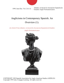 Anglicisms In Contemporary Spanish An Overview 1
