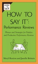 How To Say It Performance Reviews
