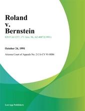 Roland V. Bernstein