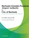 Burbank-Glendale-Pasadena Airport Authority V City Of Burbank