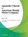 Apostolic Church V American Honda Motor Company