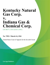 Kentucky Natural Gas Corp. v. Indiana Gas & Chemical Corp.