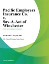 Pacific Employers Insurance Co V Sav-A-Lot Of Winchester