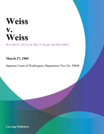 Weiss v. Weiss