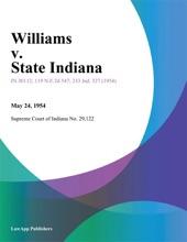 Williams V. State Indiana