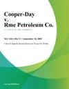 Cooper-Day V Rme Petroleum Co