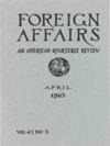Foreign Affairs - April 1963