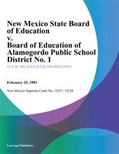 New Mexico State Board Of Education V. Board Of Education Of Alamogordo Public School District No. 1