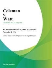 Coleman v. Watt