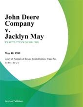 John Deere Company v. Jacklyn May