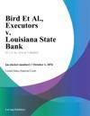Bird Et Al Executors V Louisiana State Bank