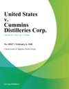 United States V Cummins Distilleries Corp