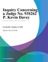 Inquiry Concerning A Judge No 93-62 P Kevin Davey 101394