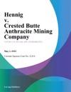 Hennig V Crested Butte Anthracite Mining Company