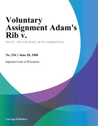 Voluntary Assignment Adams Rib V. image