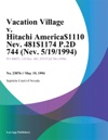 Vacation Village V Hitachi America