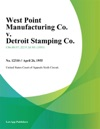 West Point Manufacturing Co V Detroit Stamping Co