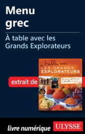MENU GREC - À TABLE AVEC LES GRANDS EXPLORATEURS