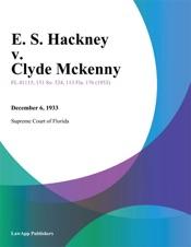 Download E. S. Hackney v. Clyde Mckenny