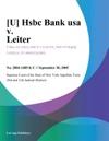 U Hsbc Bank Usa V Leiter