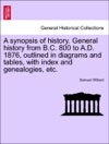A Synopsis Of History General History From BC 800 To AD 1876 Outlined In Diagrams And Tables With Index And Genealogies Etc