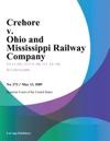 Crehore V Ohio And Mississippi Railway Company