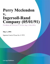 Perry Mcclendon v. Ingersoll-Rand Company