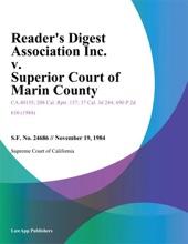 Reader's Digest Association Inc. V. Superior Court Of Marin County