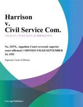 Harrison V. Civil Service Com.