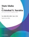 060394 State Idaho V Cristobal S Sarabia