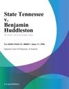 061796 State Tennessee V Benjamin Huddleston