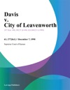 Davis V City Of Leavenworth