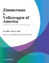 Zimmerman V Volkswagen Of America