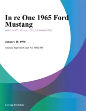 In Re One 1965 Ford Mustang