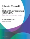 Alberto Clausell V Hobart Corporation