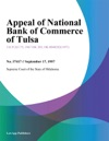 Appeal Of National Bank Of Commerce Of Tulsa