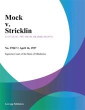 Mock V. Stricklin