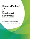 Hewlett-Packard Co V Benchmark Electronics