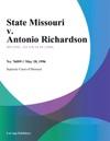 052896 State Missouri V Antonio Richardson