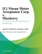 [U] Nissan Motor Acceptance Corp. v. Maxberry